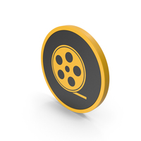 Icon Film Roll Yellow PNG & PSD Images