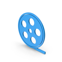 Symbol Film Roll Blue PNG & PSD Images