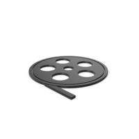 Black  Symbol Film Roll PNG & PSD Images