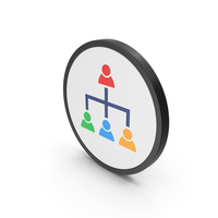 Icon Hierarchical Organization Colored PNG & PSD Images