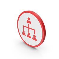 Icon Hierarchical Organization Red PNG & PSD Images