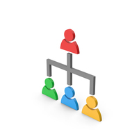 Symbol Hierarchical Organization Colored PNG & PSD Images
