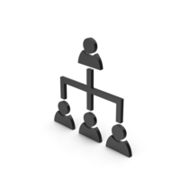 Symbol Hierarchical Organization Black PNG & PSD Images