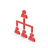 Symbol Hierarchical Organization Red PNG & PSD Images