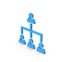 Symbol Hierarchical Organization Blue PNG & PSD Images