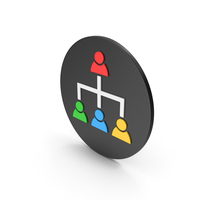 Hierarchical Organization Colored Icon PNG & PSD Images