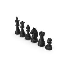 Black Chess Pieces Set PNG & PSD Images