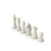 White Chess Pieces Set PNG & PSD Images