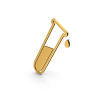 Symbol Test Tube Gold PNG & PSD Images