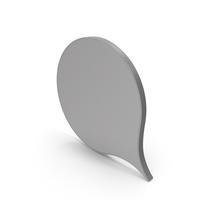Speech Bubble Grey PNG & PSD Images