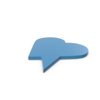 Speech Bubble Blue PNG & PSD Images