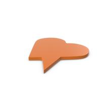 Speech Bubble Orange PNG & PSD Images