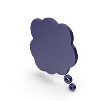 Speech Bubble Dark Blue PNG & PSD Images
