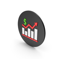 Graph Chart With Dollar Sign Icon PNG & PSD Images