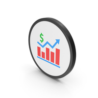 Icon Graph Chart With Dollar Sign PNG & PSD Images