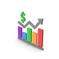 Symbol Graph Chart With Dollar Sign PNG & PSD Images