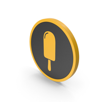 Icon Ice Cream Yellow PNG & PSD Images