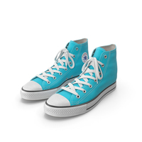 Basketball Leather Shoes Light Blue PNG & PSD Images