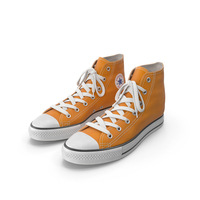 Basketball Leather Shoes Orange PNG & PSD Images
