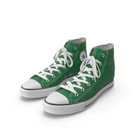 Basketball Leather Shoes Green PNG & PSD Images