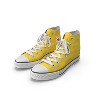 Basketball Leather Shoes Yellow PNG & PSD Images