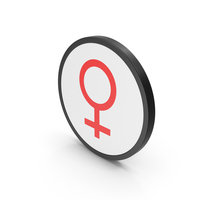 Icon Female Red PNG & PSD Images