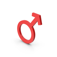 Symbol Male Red PNG & PSD Images