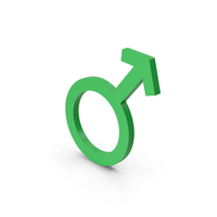 Symbol Male Green PNG & PSD Images