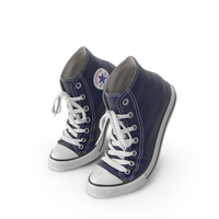 Basketball Leather Shoes Bent Dark Blue PNG & PSD Images