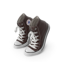 Basketball Leather Shoes Bent Brown PNG & PSD Images