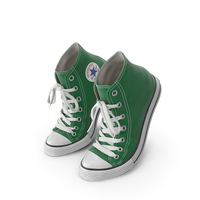 Basketball Leather Shoes Bent Green PNG & PSD Images