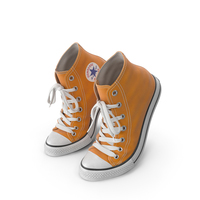 Basketball Leather Shoes Bent Orange PNG & PSD Images