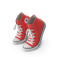 Basketball Leather Shoes Bent Red PNG & PSD Images