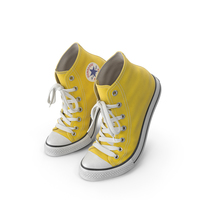 Basketball Leather Shoes Bent Yellow PNG & PSD Images