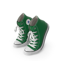 Basketball Shoes Bent Green PNG & PSD Images