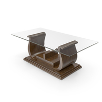 Walnut Wood Coffee Table PNG & PSD Images