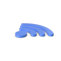 WiFi Symbol Blue PNG & PSD Images