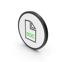Icon Doc File Green PNG & PSD Images