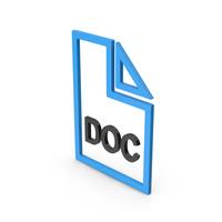Symbol DOC File Blue PNG & PSD Images