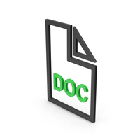 Symbol DOC File Green PNG & PSD Images