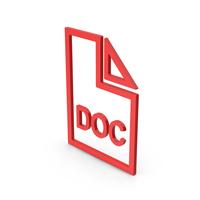 Symbol DOC File Red PNG & PSD Images