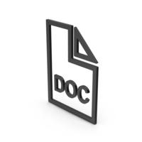 Symbol DOC File Black PNG & PSD Images