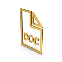 Symbol DOC File Gold PNG & PSD Images