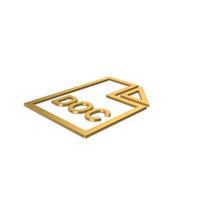 Gold Symbol DOC File PNG & PSD Images