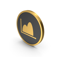 Gold Icon Curve Graph Chart PNG & PSD Images