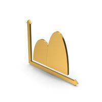 Symbol Curve Graph Chart Gold PNG & PSD Images