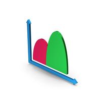 Symbol Curve Graph Chart Metallic PNG & PSD Images