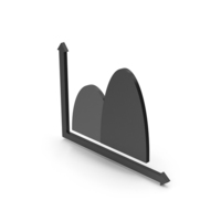 Symbol Curve Graph Chart Black PNG & PSD Images