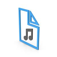 Symbol Music File Blue PNG & PSD Images