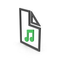 Symbol Music File Green PNG & PSD Images